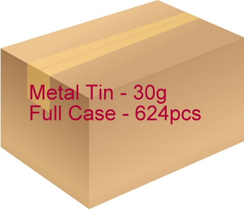 Metal Tin with Screw Lid - 30g / 1.06oz (Full Case of 624pcs)