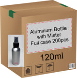 Aluminum Bottle with Black Mister - 120ml (Full Case)
