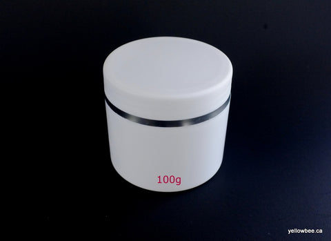 Double Wall Plastic Jar with Silver Trim - 100g