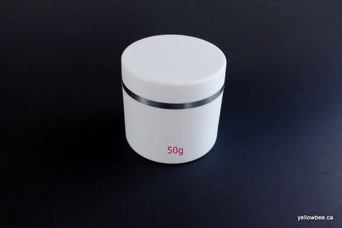 Double Wall Plastic Jar with Silver Trim - 50g