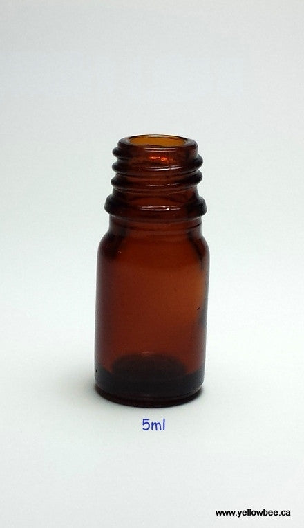 New Essential Oil Glass Bottle - Amber - 5ml / 0.17oz