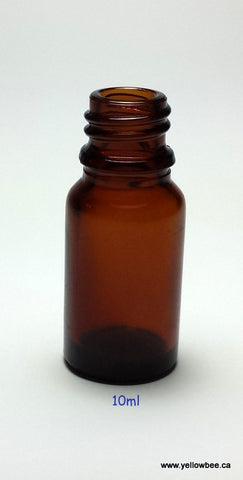 New Essential Oil Glass Bottle - Amber - 10ml / 0.34oz