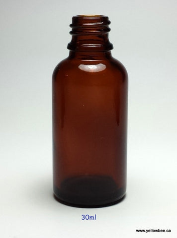 New Essential Oil Glass Bottle - Amber - 30ml / 1oz