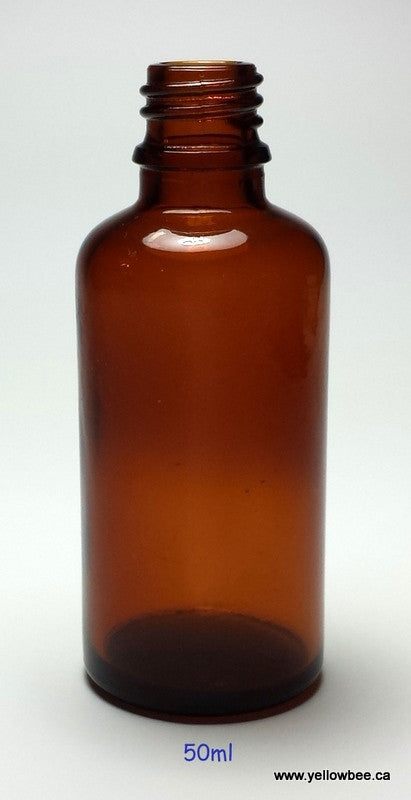 New Essential Oil Glass Bottle - Amber - 50ml / 1.69oz