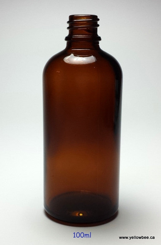 New Essential Oil Glass Bottle - Amber - 100ml / 3.34oz