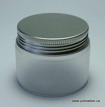 Frosted Plastic Jar - Aluminum Lid - 100ml