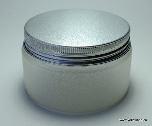 Frosted Plastic Jar - Aluminum Lid - 250ml