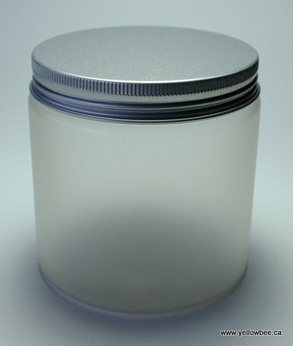 Frosted Plastic Jar - Aluminum Lid - 500ml