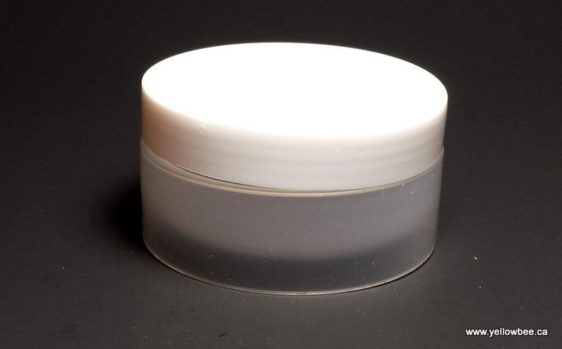 Low Profile Double Wall Plastic Jar with White Lid - 50ml