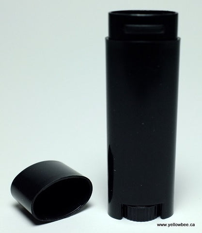 Oval Lip Gloss Tube - Black - 5g