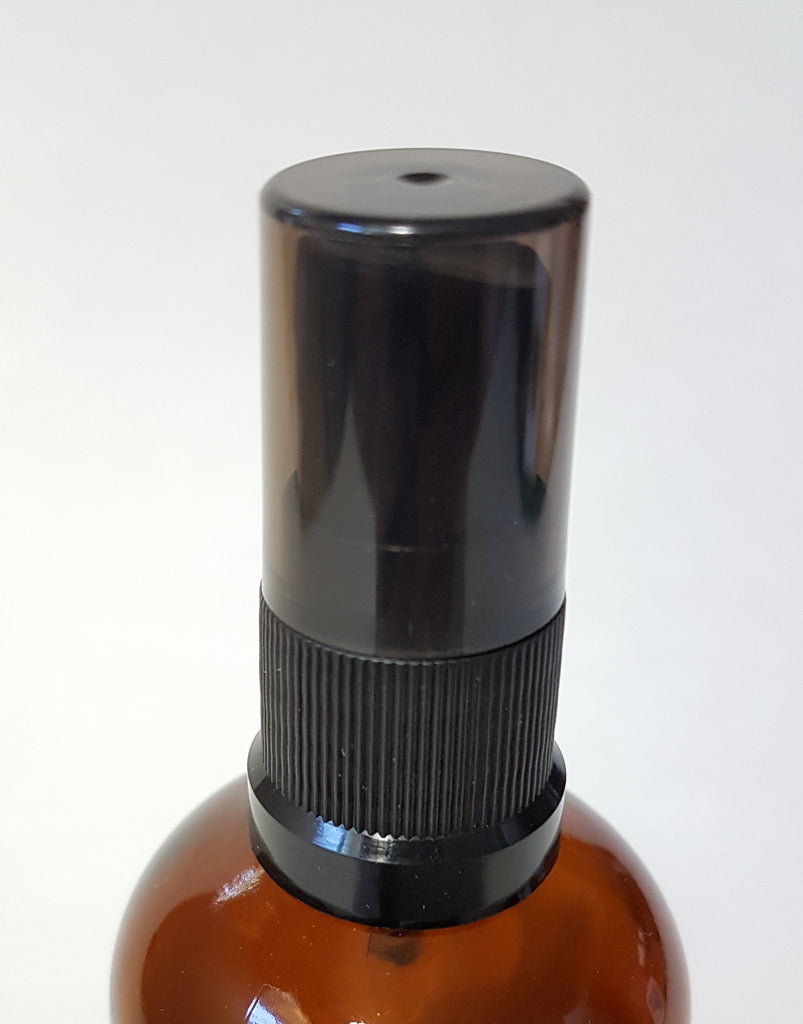New Mister (Black Ribbed, Semi Translucent Black Cover) - for Essential Oil Bottle