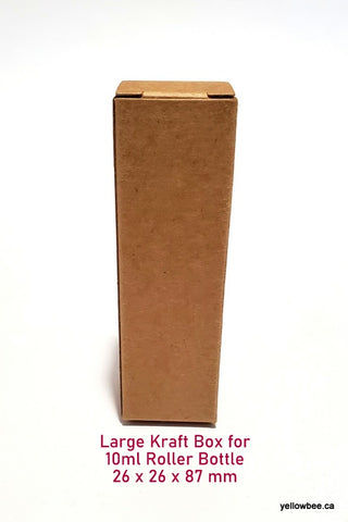 Kraft Box for 10ml Roller Bottle - Brown (20pcs)