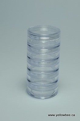 Stackable Plastic Container - 5g / 0.18oz (5-piece pack)