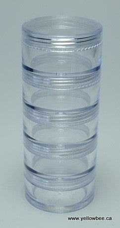Stackable Plastic Container - 10g / 0.35oz (5-piece pack)