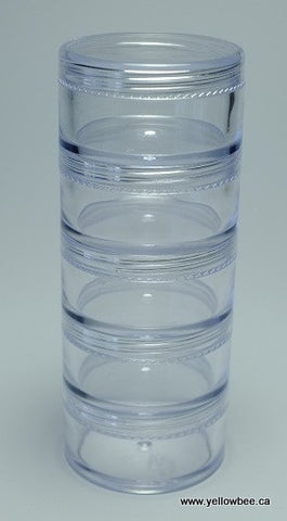 Stackable Plastic Container - 20g / 0.71oz (5-piece pack)