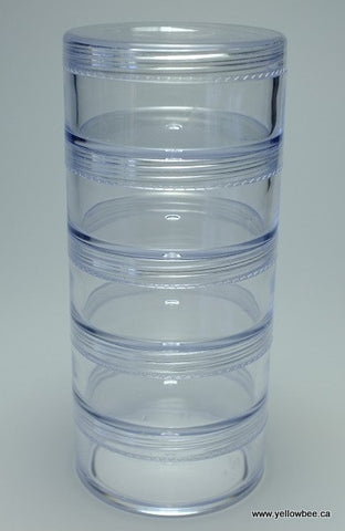 Stackable Plastic Container - 30g / 1.06oz (5-piece pack)