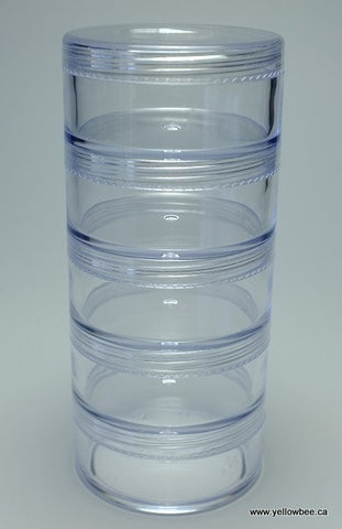 Stackable Plastic Container - 50g / 1.76oz (5-piece pack)