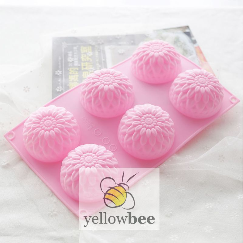 Soap Mold - 6 Cavity Chrysanthemum - SM-002