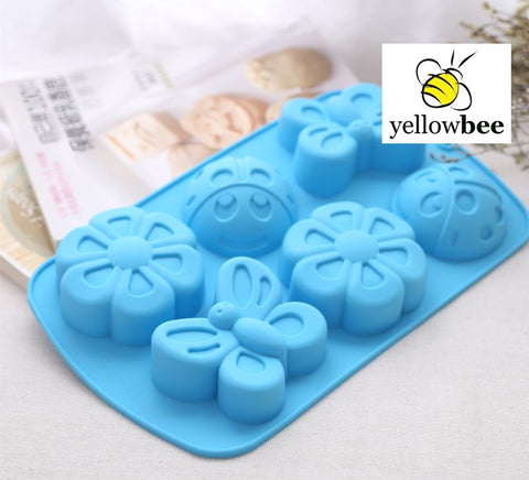 Soap Mold - 6 Cavity Insect-Butterfly - SM-003