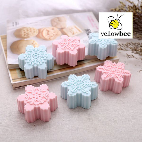 Soap Mold - 6 Cavity Snowflakes - SM-015