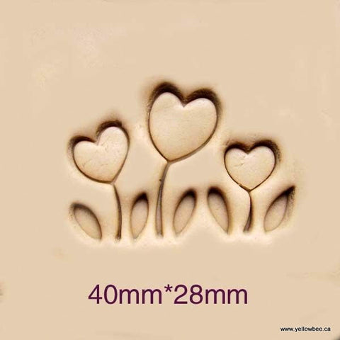 Soap Stamp - 3 Flowers - SS083