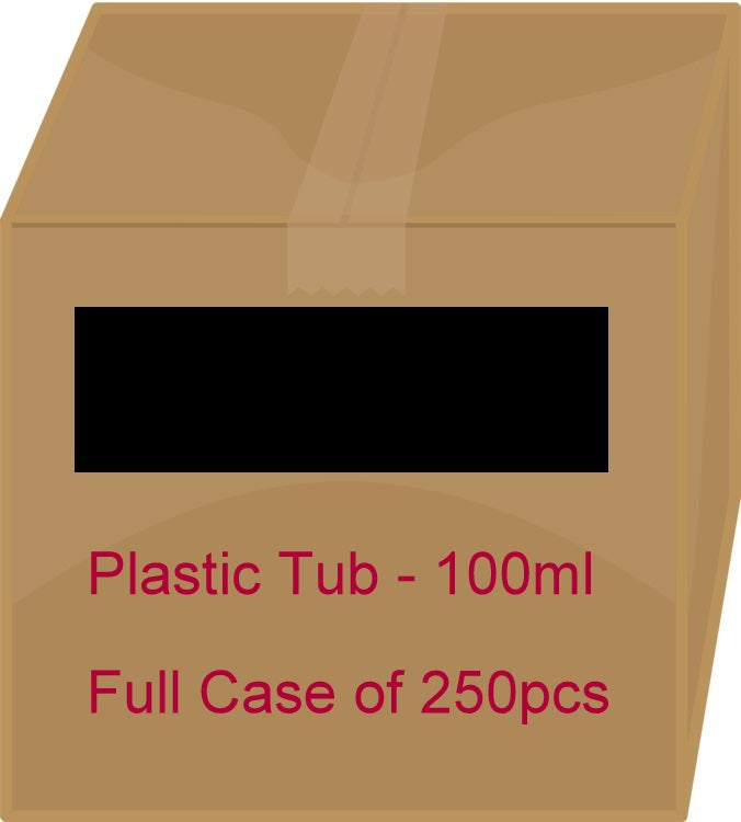 Black Plastic Tub - 100ml / 3.38oz (Full Case 250pcs)