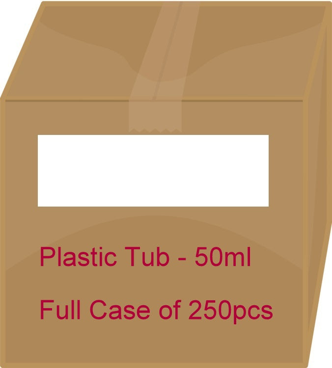 White Plastic Tub - 50ml / 1.7oz (Full Case 250pcs)