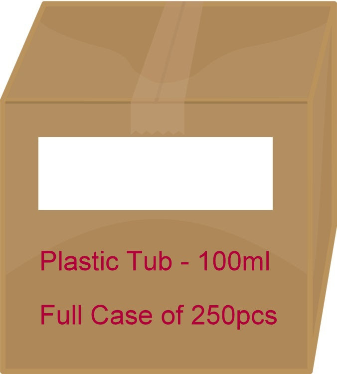 White Plastic Tub - 100ml / 3.38oz (Full Case 250pcs)
