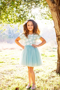 Green Daisy Tutu Dress