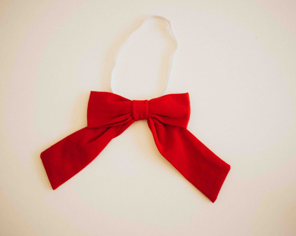 Elastic Neck Bow - Red