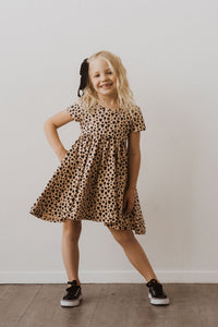 Leopard Heart Swing Dress
