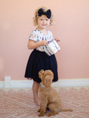 Puppy Tutu Dress - Black Tulle