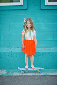 Rainbow Stripe Dress - Taylor Joelle