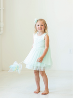 Load image into Gallery viewer, Aqua Fairy Dress With Wings