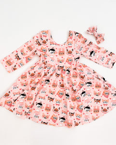 Valentine Kitty Swing Dress - with pockets