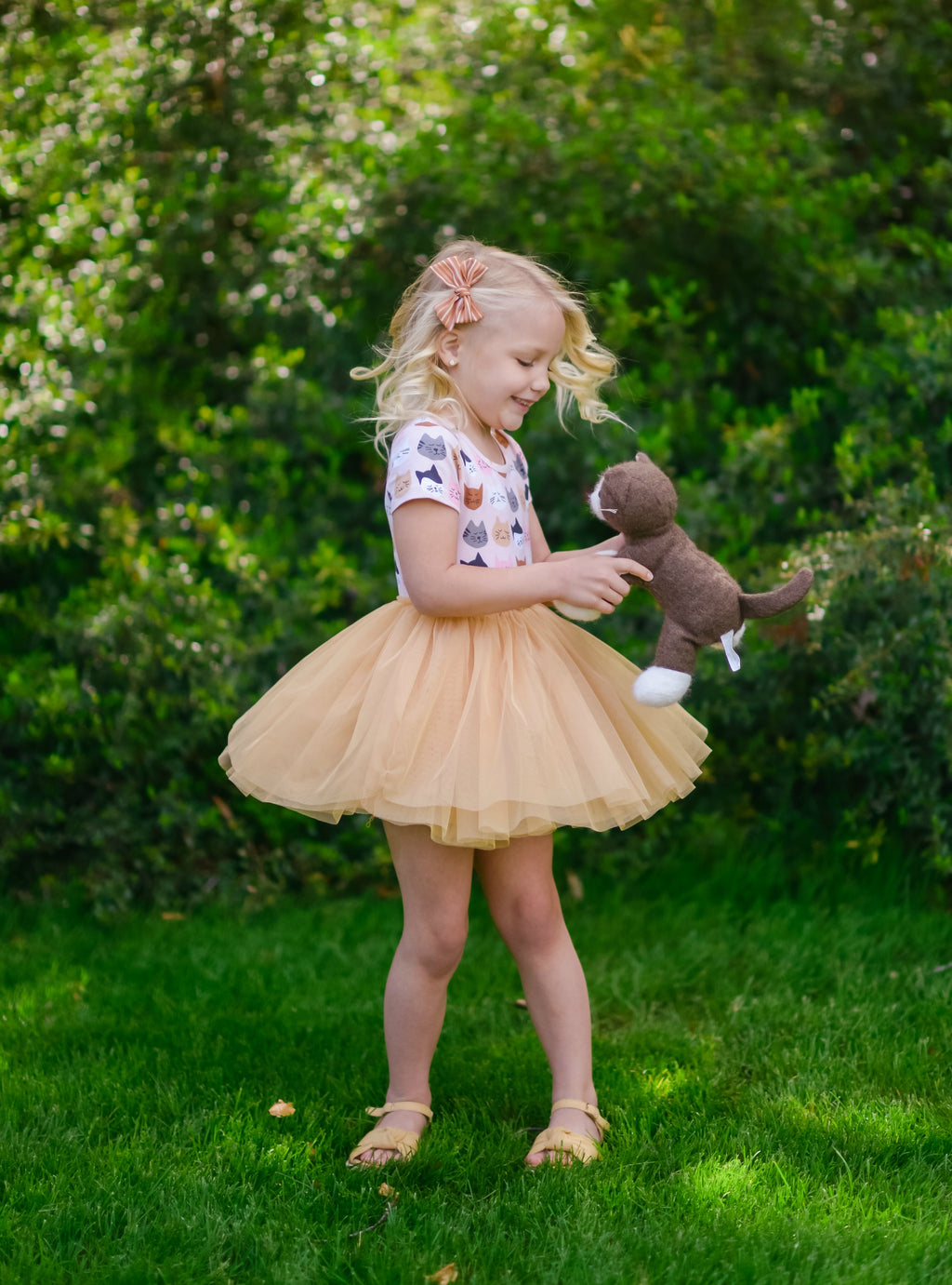 Kitty Tutu Dress - Gold