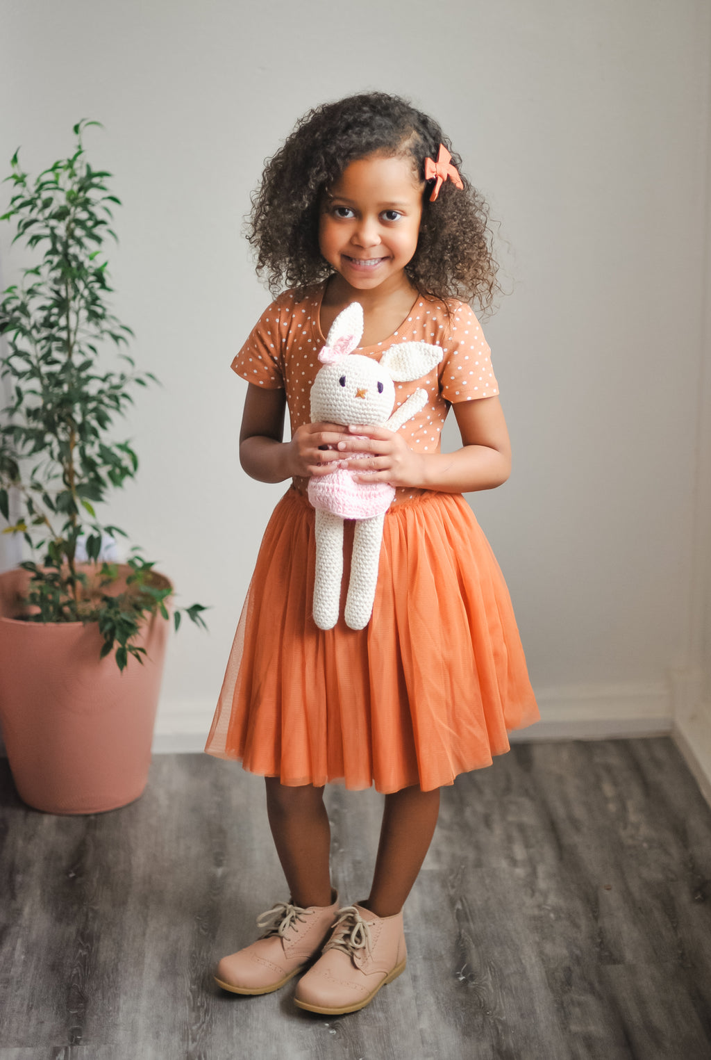 Rust Polka Dot Tutu Dress