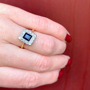 Beautifully Framed Sapphire and Diamond Ring