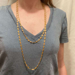 Extra Long Victorian French 18k Gold Chain