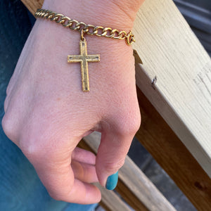 The Golden Cross Bracelet