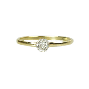 Orbit Solitaire 18k Yellow Gold and Platinum - Gem Set Love