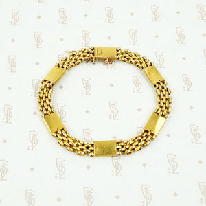 Luxurious 15ct Gold and OMC Diamond Bracelet
