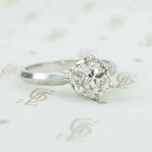 old euro 1.77 ct diamond solitaire in platinum