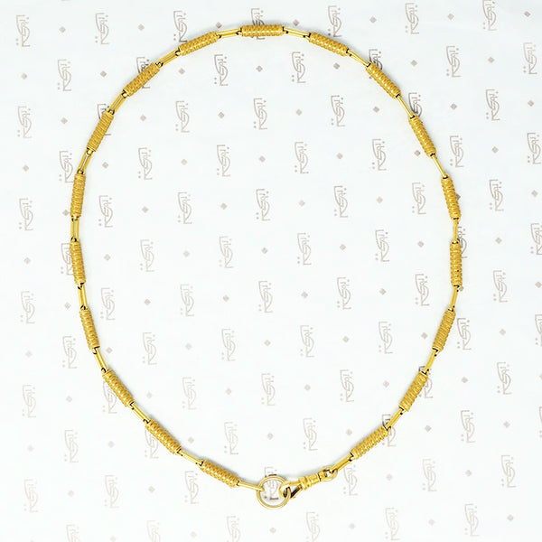 18k yellow gold chain necklace with split ring