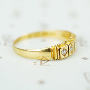 english 18k 5 omc diamond band