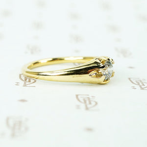 recycled 18k yellow gold and vintage diamond belcher ring