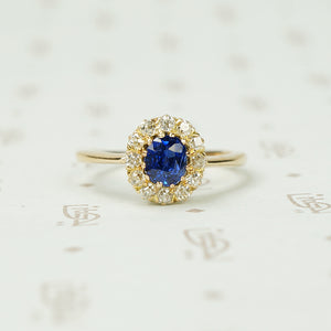 Stunning Oval Sapphire Surrounded by OMC Diamonds