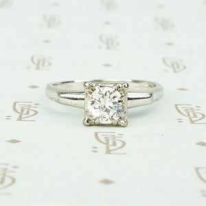 white gold 1/2 carat solitaire engagement ring