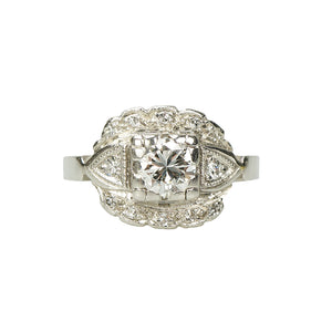 Platinum Vintage 1930's Engagement Ring