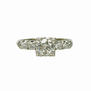 Vintage Classic 1940s Diamond Engagement Ring